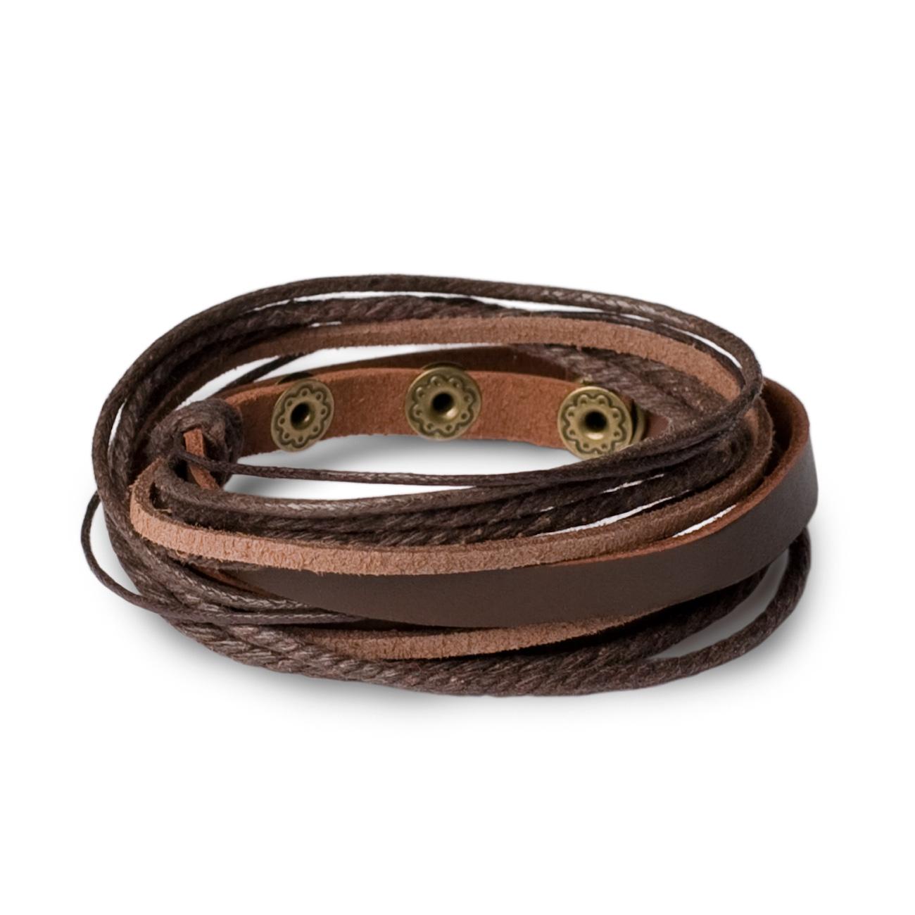 wickelarmband surfer armband leder herren damen braun. Black Bedroom Furniture Sets. Home Design Ideas