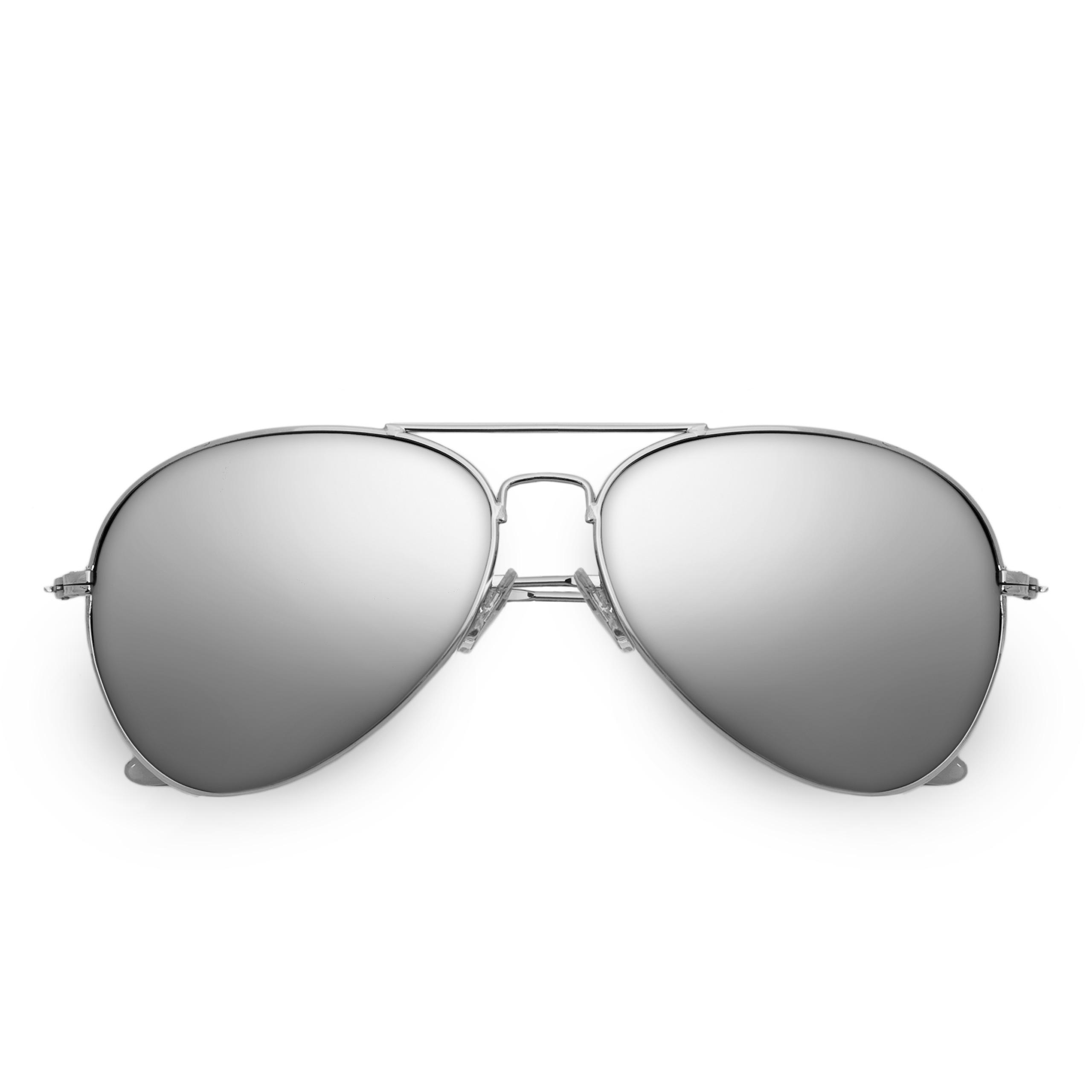 Herren Damen Sonnenbrille Pilotenbrille Fliegerbrille Gunmetal Grau verspiegelt